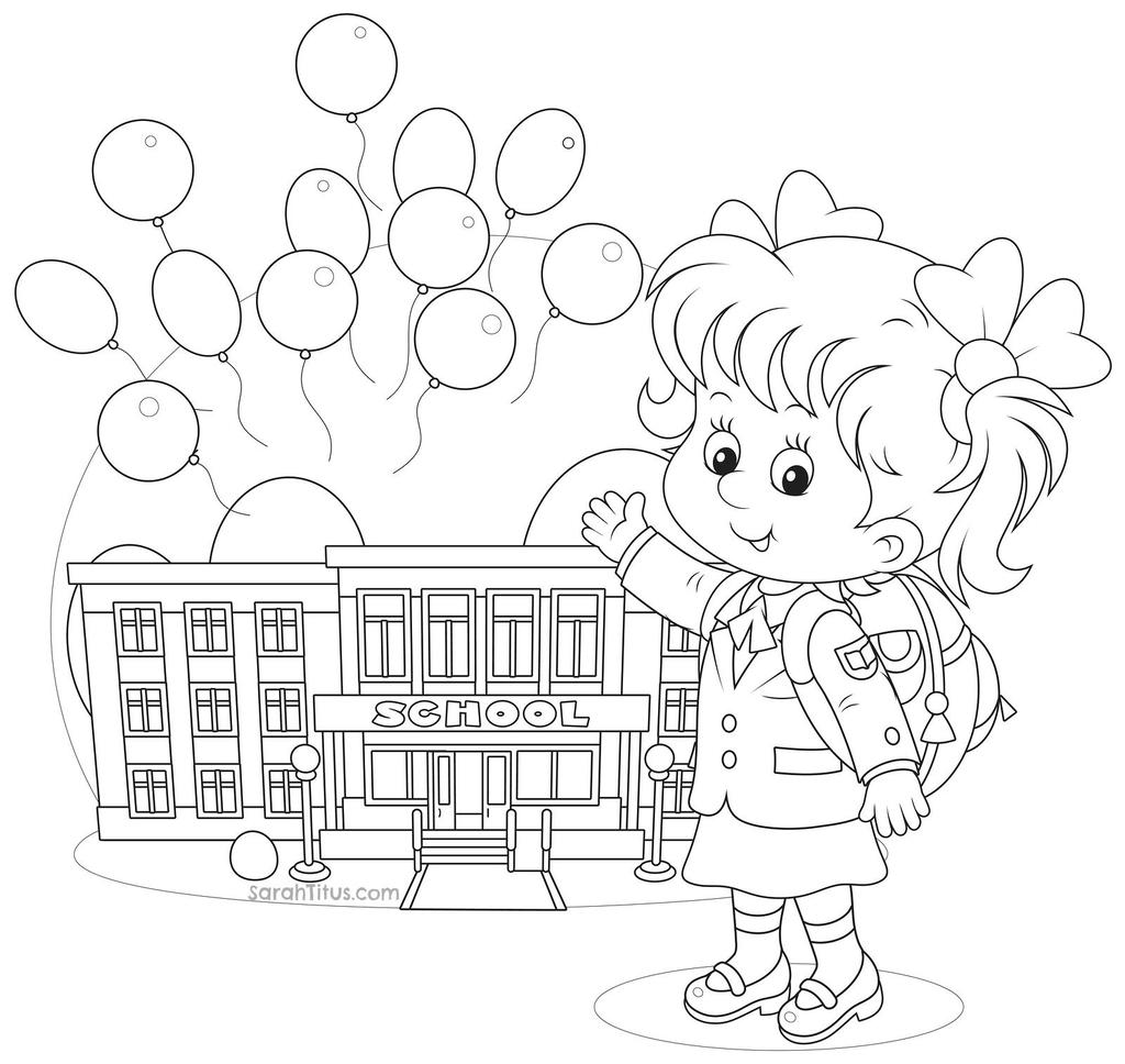 Free September Coloring Pages Go Back To School printable