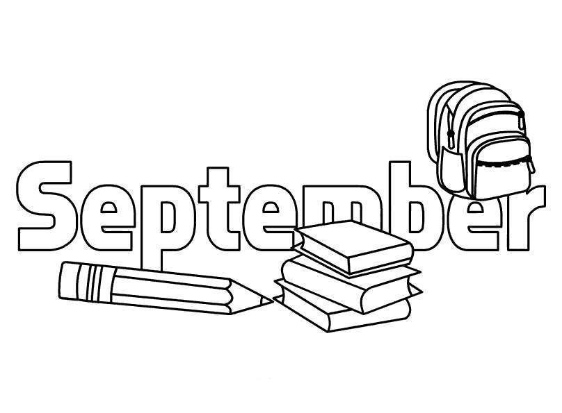 September Coloring Pages Go To School