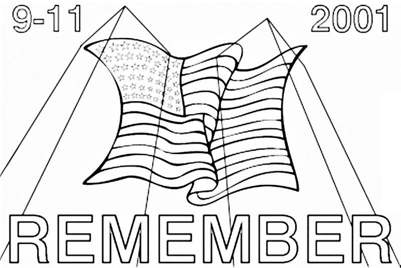 Free September Coloring Pages Remember 9 11 printable