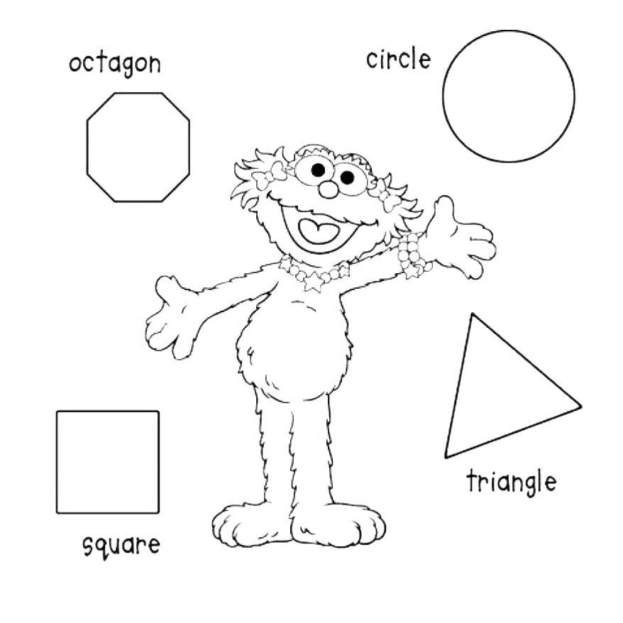 Free Sesame Street Shapes Coloring Pages printable