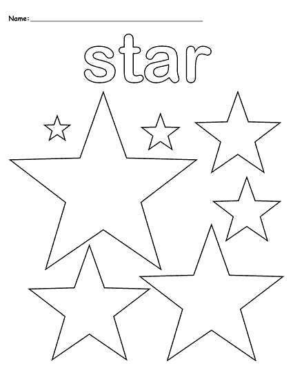 Free Shapes Coloring Pages How To Draw Star printable