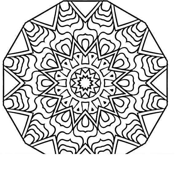 Free Snowflakes Mindfulness Coloring Pages printable