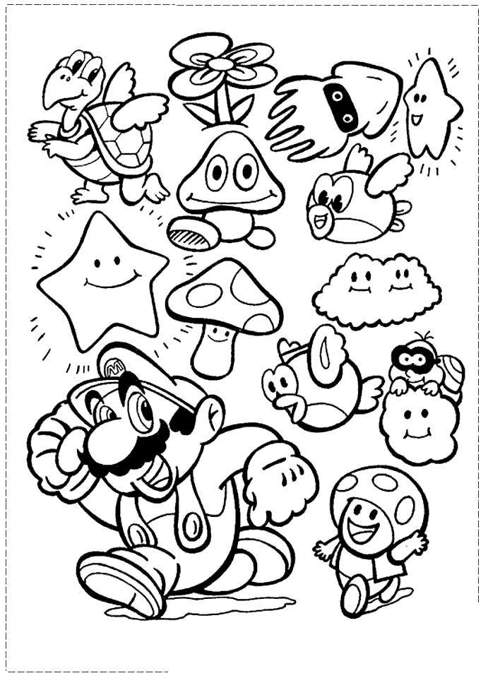 Free Super Smash Bros Coloring Pages Black And White printable