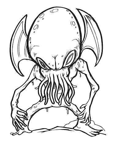 Free Alien Coloring Pages Hand Drawing printable