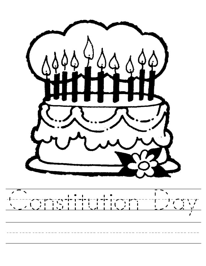 Free Constitution Coloring Pages Independence Day printable