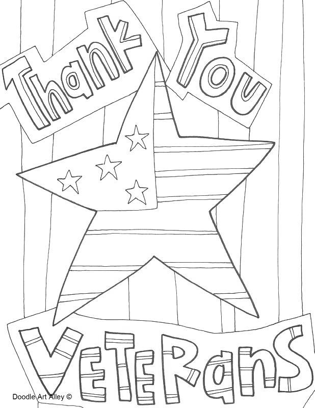 Free Constitution Coloring Pages Thank You Veterans printable