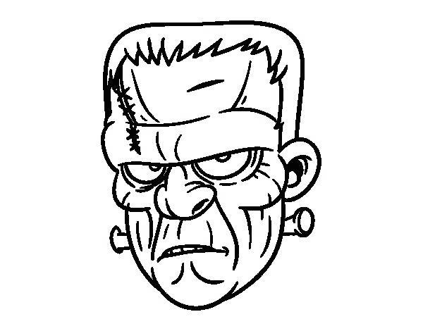 Free Face of Frankenstein Coloring Pages printable