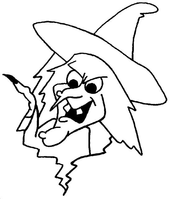Free Face of Witches Coloring Pages printable