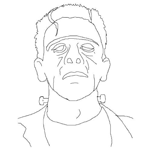 Frankenstein Coloring Pages Line