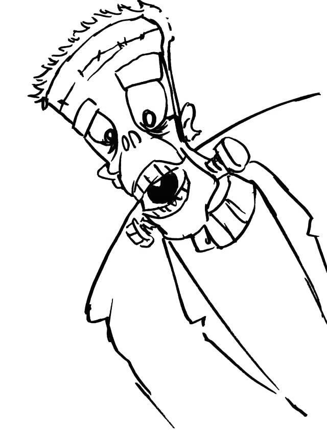 Frankenstein Coloring Pages for