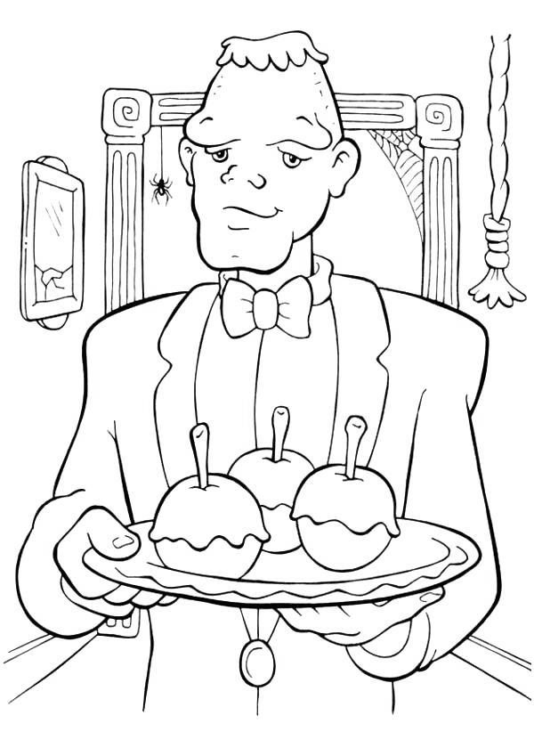 Free Frankenstein and Food Coloring Pages printable