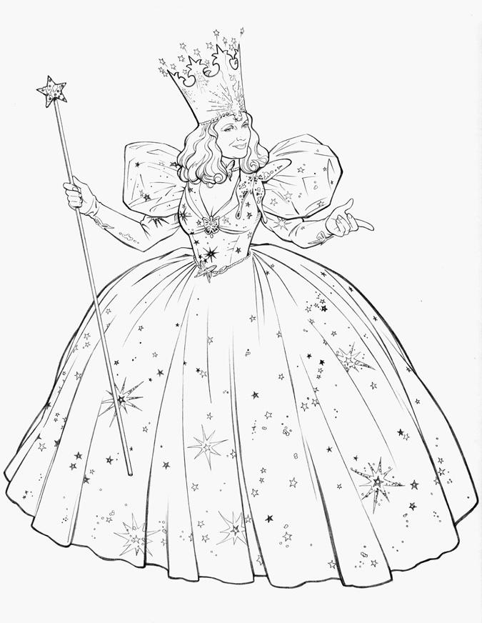 Free Glinda Witches Coloring Pages printable