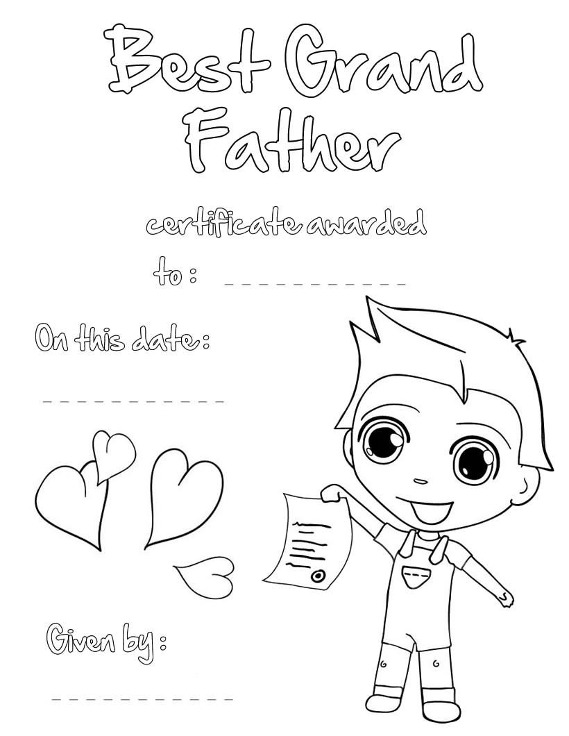 picture about Grandparents Day Printable Coloring Pages named Grandparents Working day Coloring Web pages Great Grand Dad - Cost-free