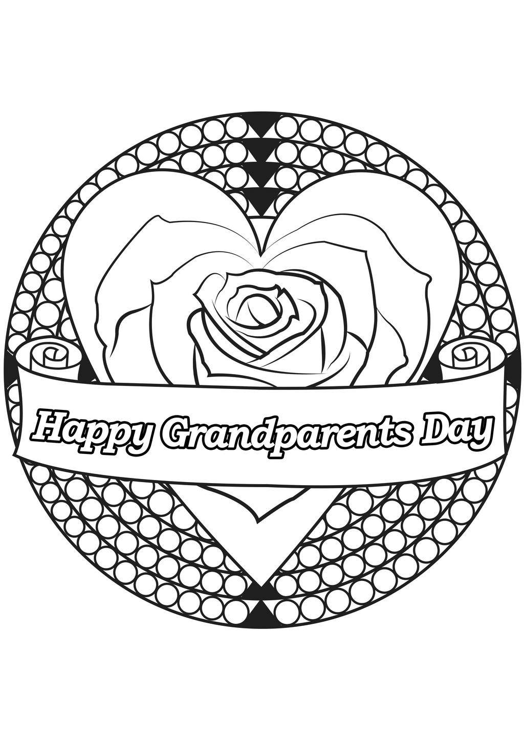 Free Grandparents Day Coloring Pages Clip Art printable