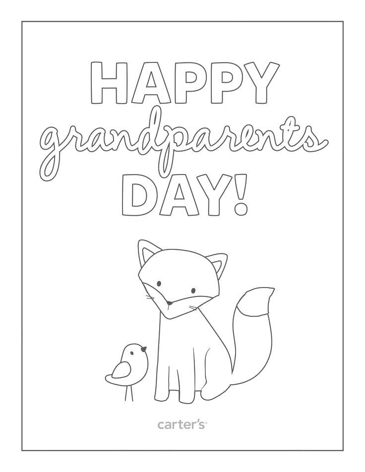 Free Grandparents Day Coloring Pages Fox and Bird printable