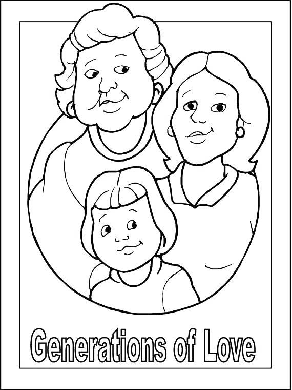 Free Grandparents Day Coloring Pages Generations Of Love printable