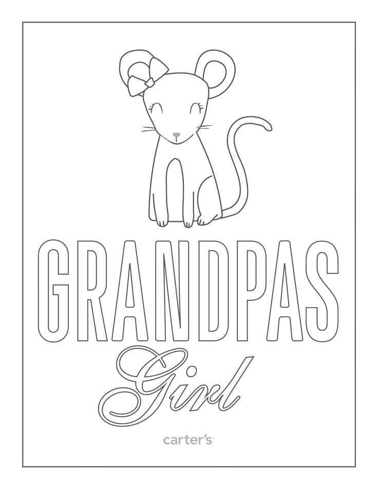 Free Grandparents Day Coloring Pages Grandpas Girl printable
