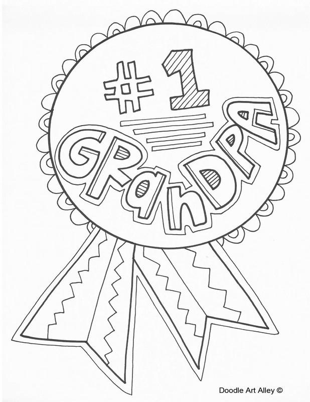 Free Grandparents Day Coloring Pages Great Grandpa printable