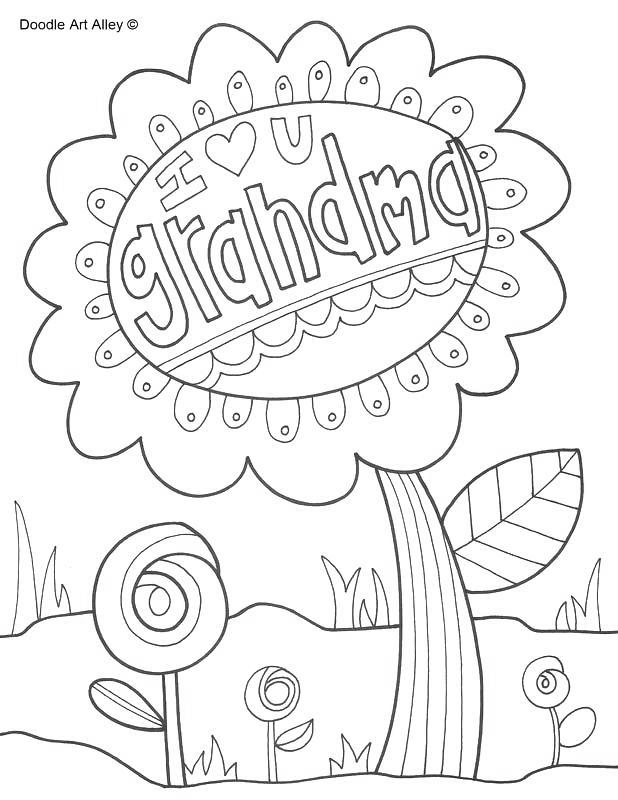 Free Grandparents Day Coloring Pages I Love You printable