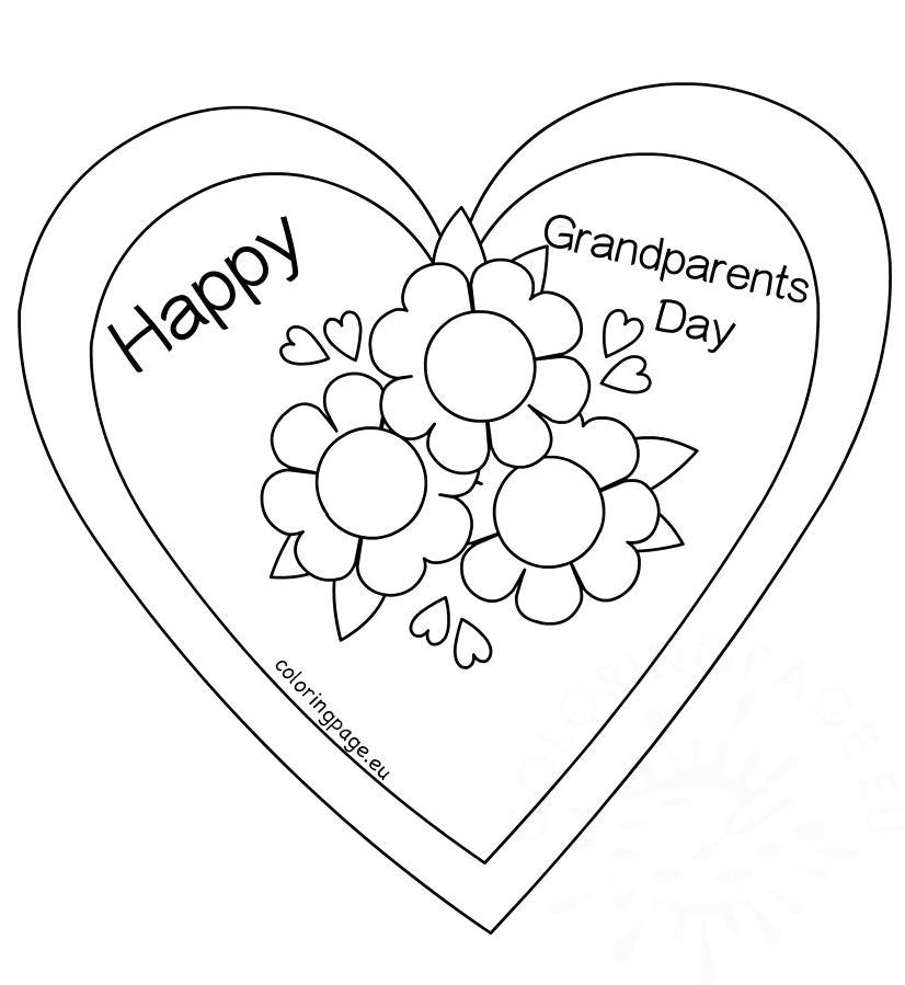 Free Grandparents Day Coloring Pages Outline for Girls printable