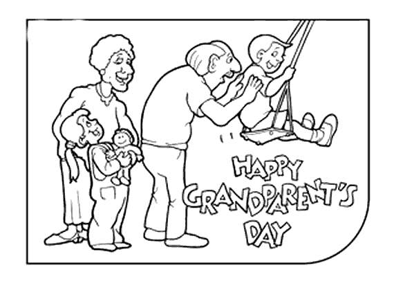 Free Grandparents Day Coloring Pages Play with Kids printable