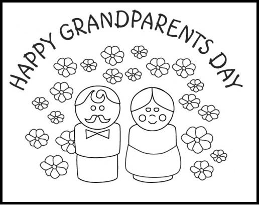 Free Grandparents Day Coloring Pages Simple Activity printable