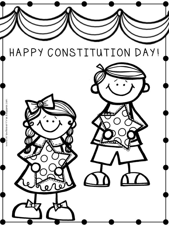 Happy Constitution Day Coloring