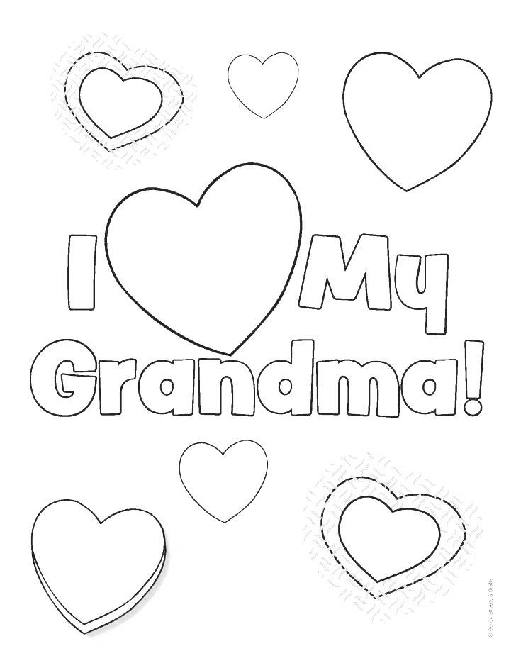 Free Hearts of Grandparents Day Coloring Pages printable