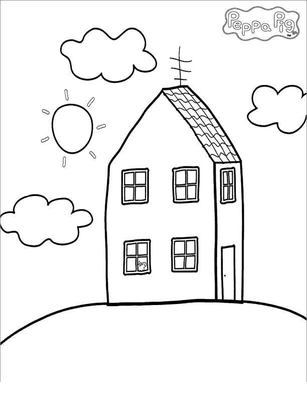 House of Peppa Pig Coloring Pages