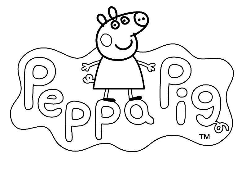 Free Logo of Peppa Pig Coloring Pages printable