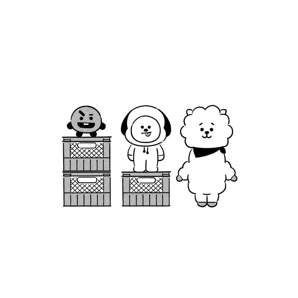 Free Lovely Bt21 Coloring Pages printable