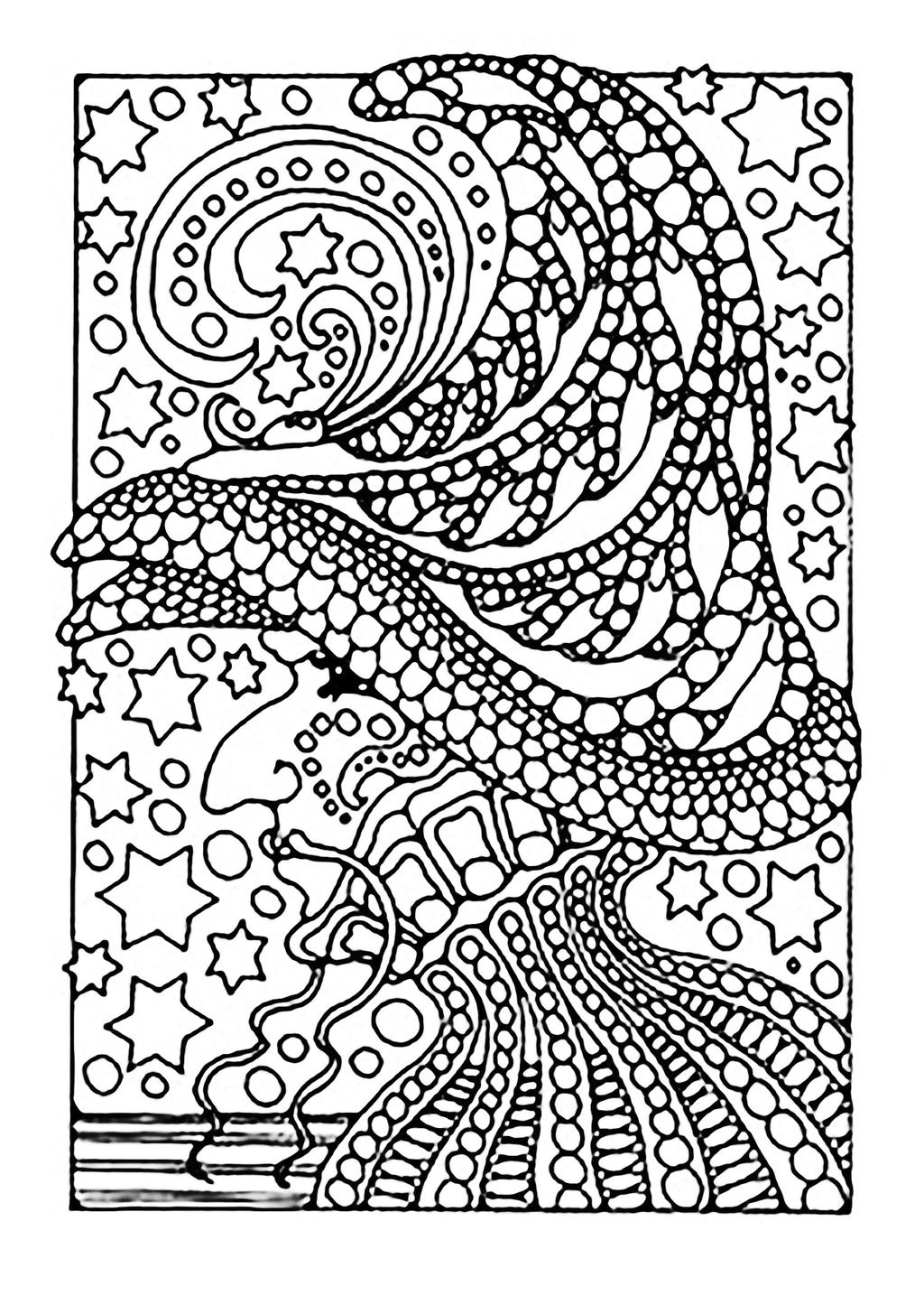 Free Mandala Witches Coloring Pages printable