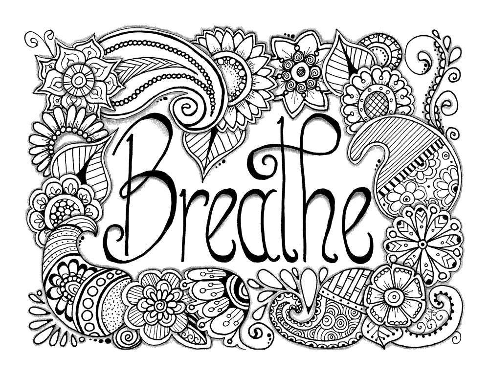Free Motivational Coloring Pages Anti Stress printable