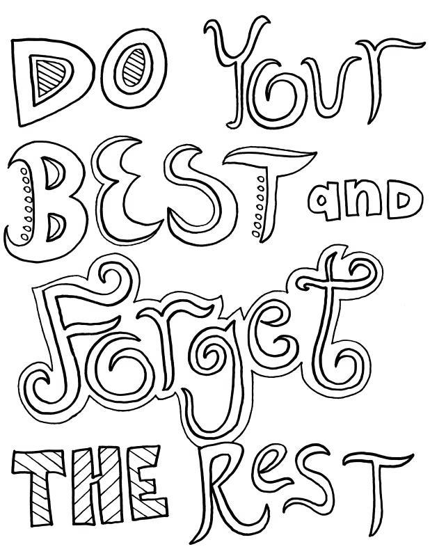 Free Motivational Coloring Pages Do Your Best printable