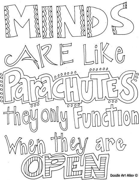 Free Motivational Coloring Pages Minds Outline printable