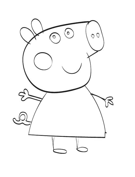 Free Peppa Pig Coloring Pages Fans Art printable