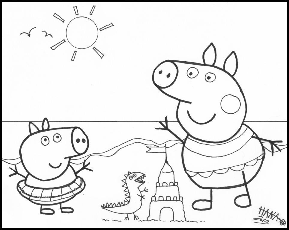 Peppa Pig Coloring Pages Play On