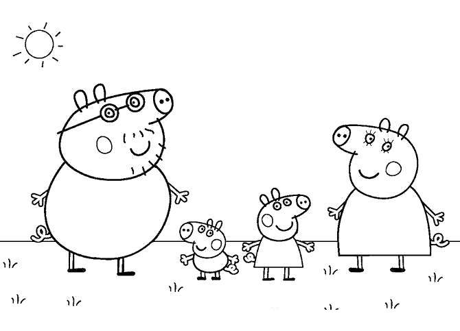 Free Peppa Pig Coloring Pages Play Together printable