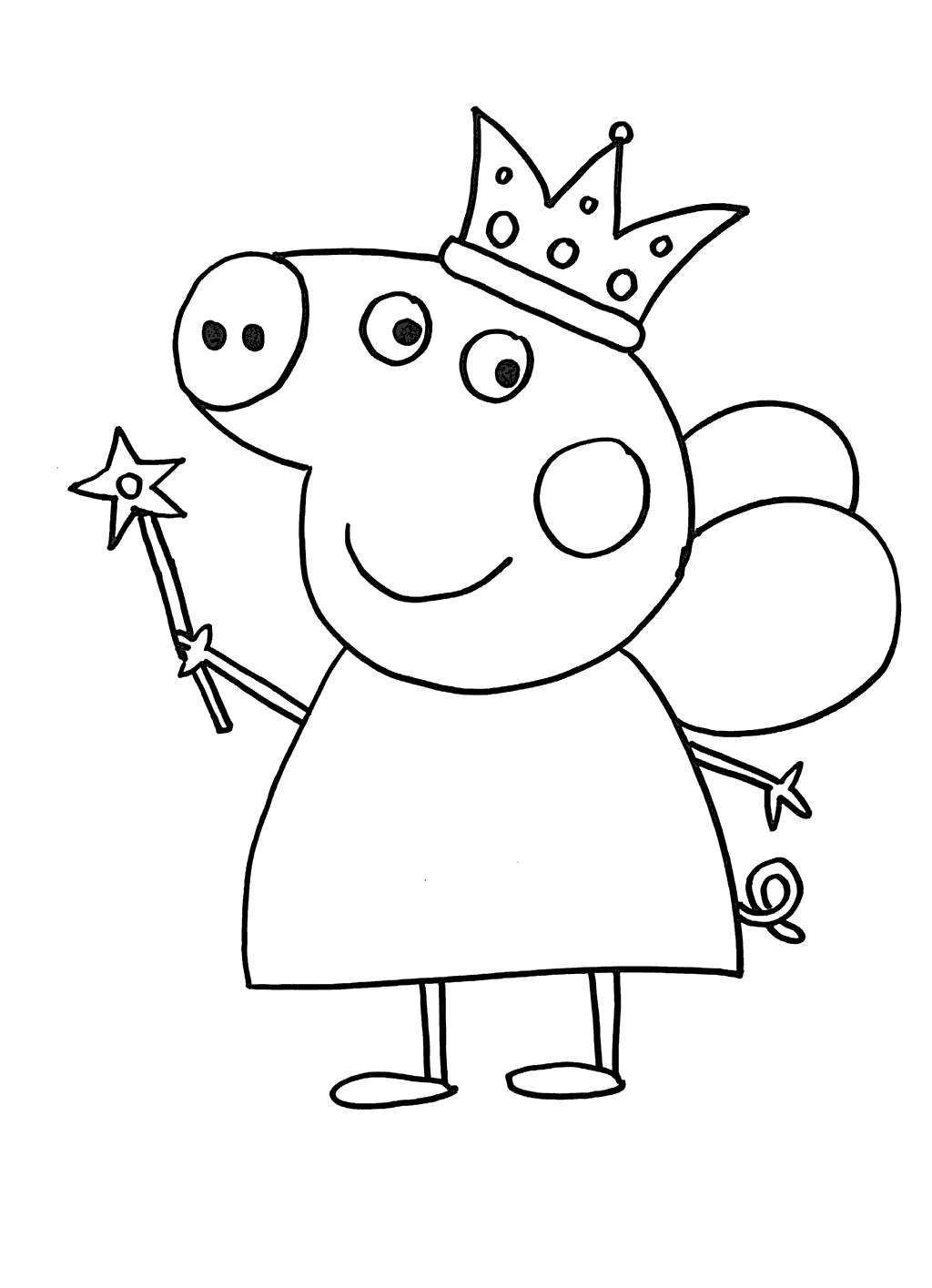 Free Peppa Pig Coloring Pages Worksheet printable