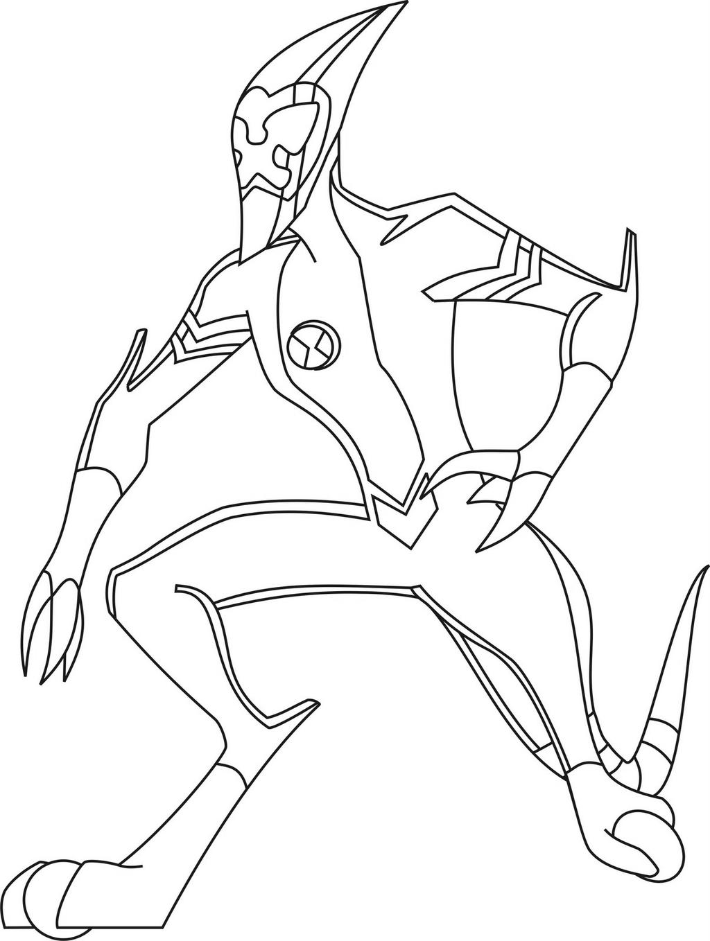 Free Ultimate Four Arms Alien Coloring Pages printable