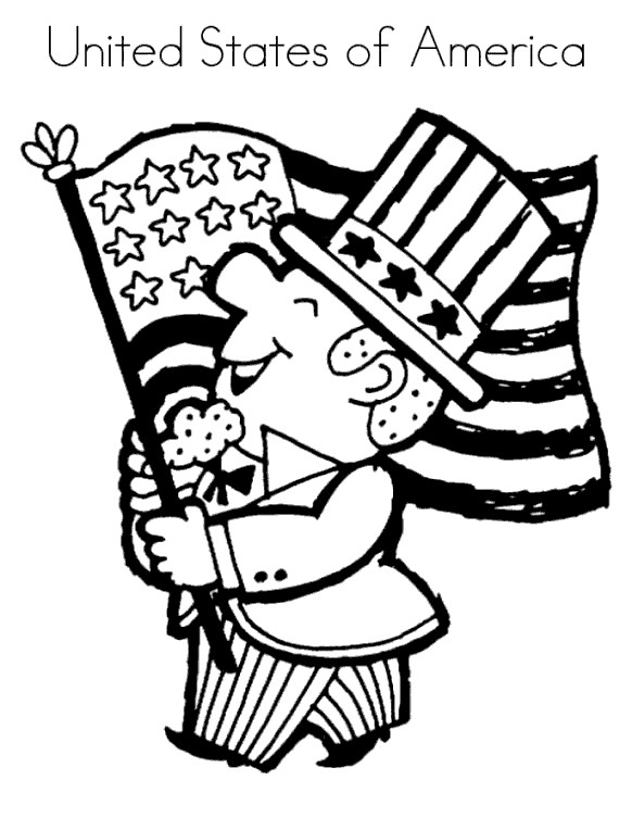 Free United States of America Constitution Coloring Pages printable
