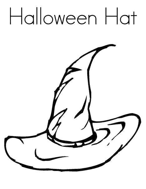 Free Witches Coloring Pages Halloween Hat printable
