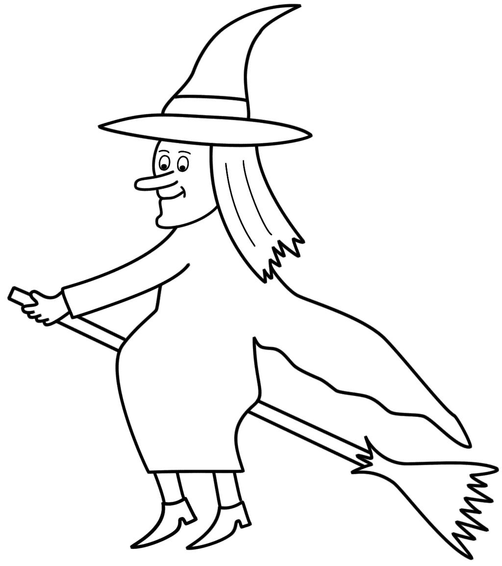 Free Witches Coloring Pages Linear printable