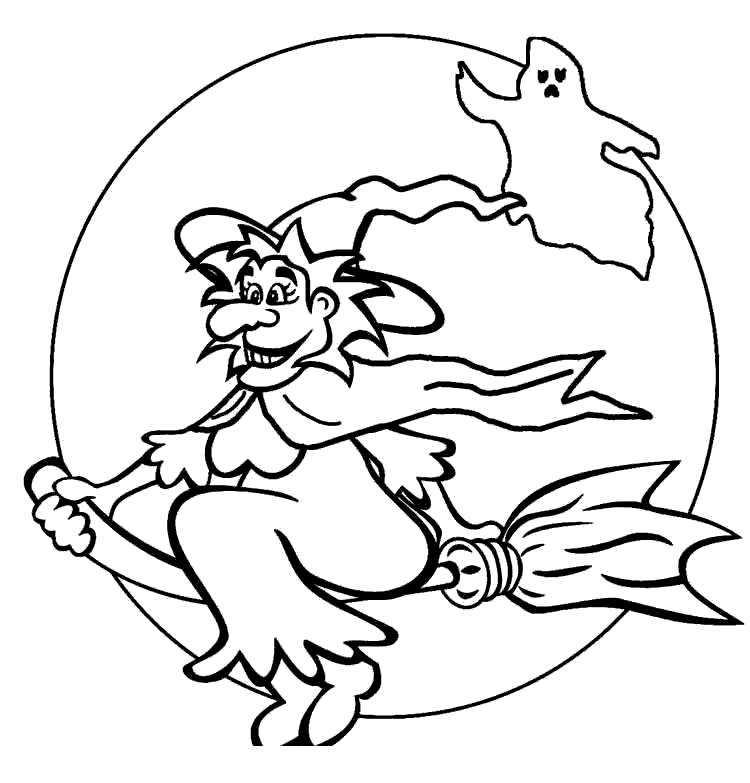 Free Witches Coloring Pages Outline printable