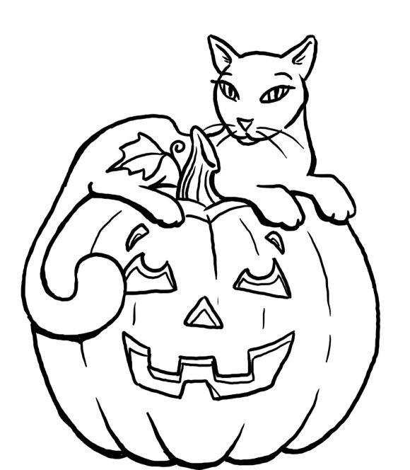 Free Black Cat Coloring Pages for Halloween printable
