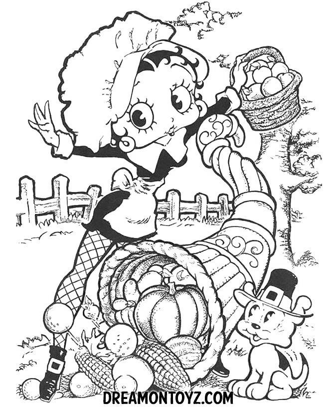 Cartoon November Coloring Pages
