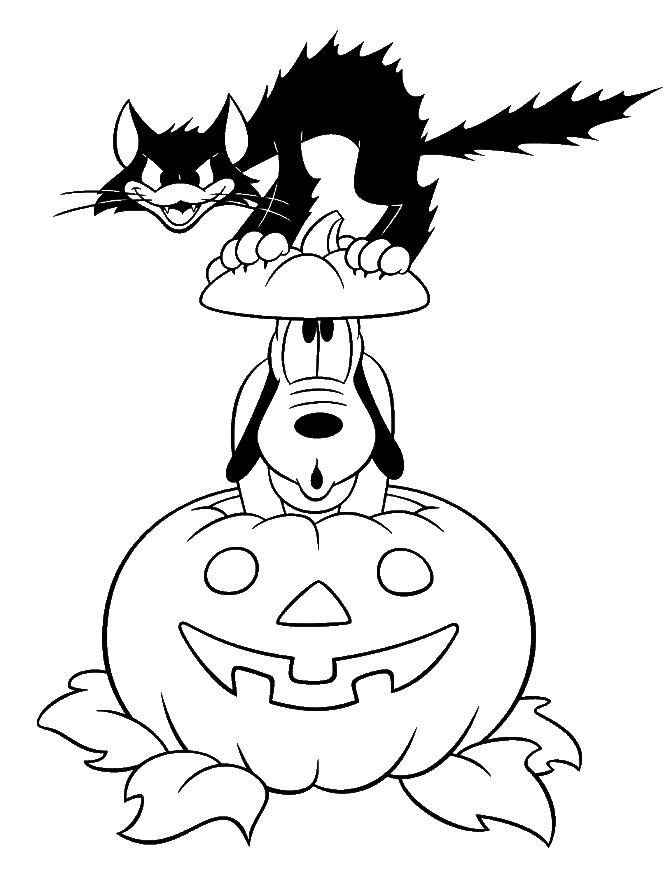 Free Disney Black Cat Coloring Pages printable