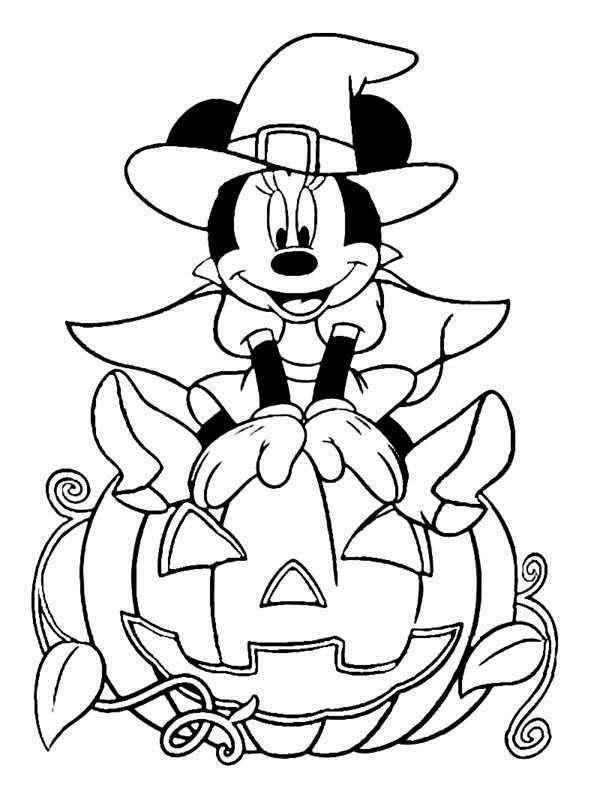 Free Disney Halloween Coloring Pages Happy Halloween printable