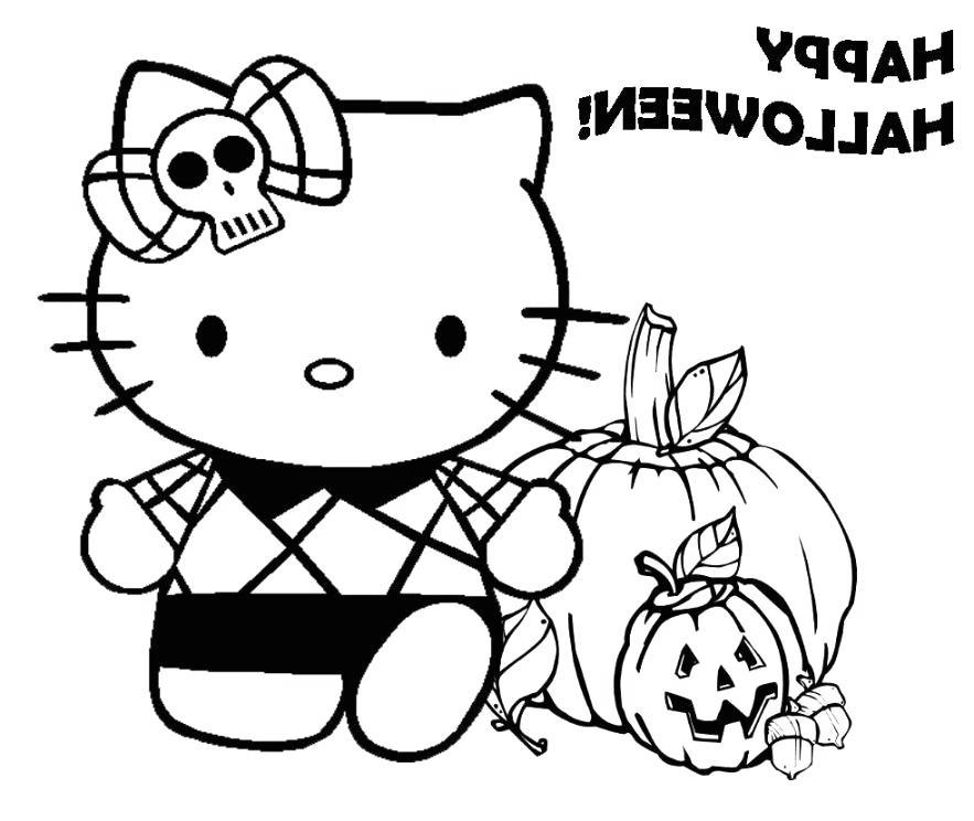 Free Disney Halloween Coloring Pages Hello Kitty printable