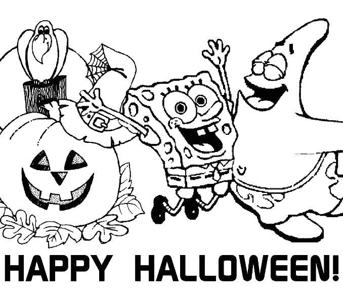 Disney Halloween Coloring Pages SpongeBob SquarePants